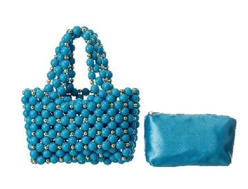 Blue Bead Handbag