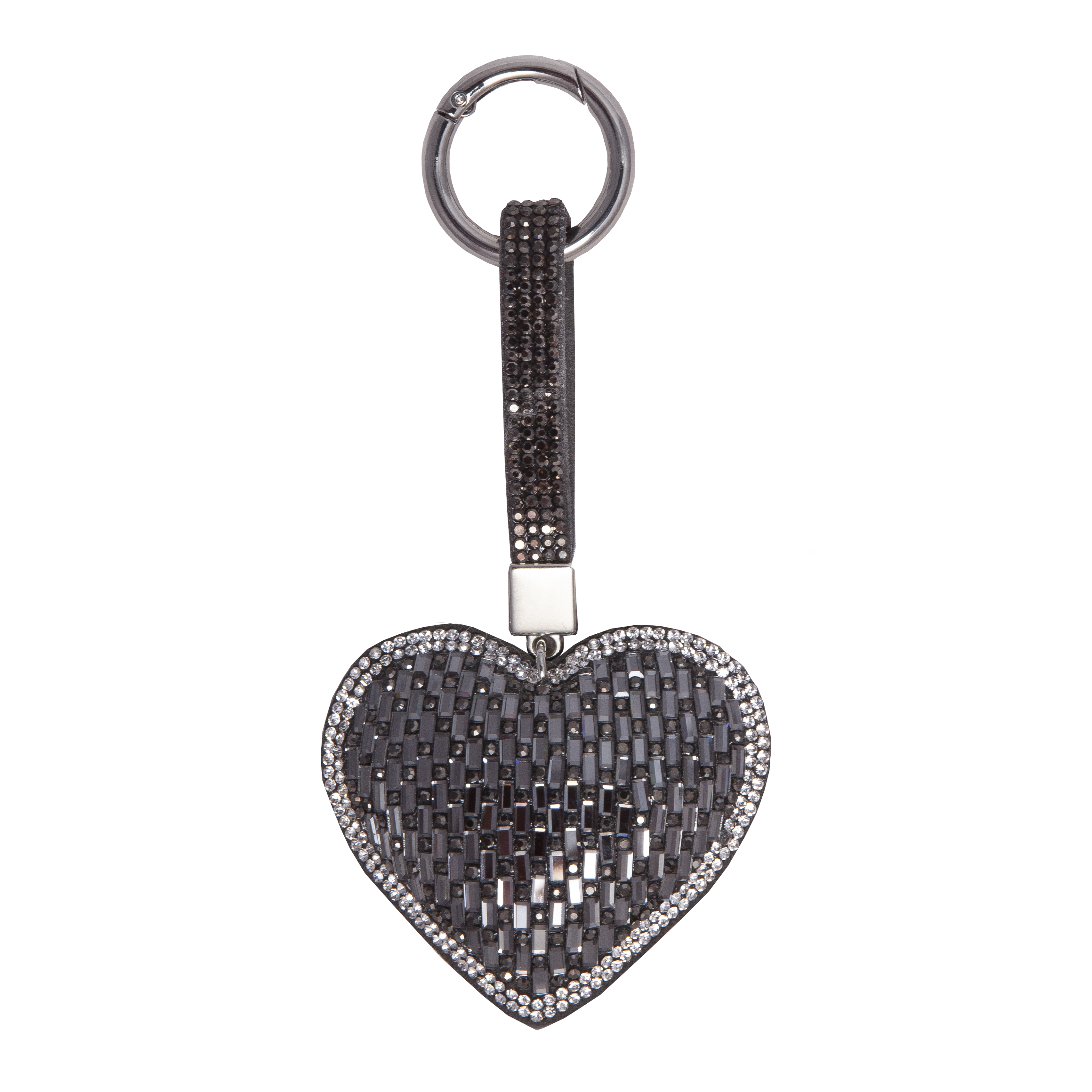 Rose Gold - Gun Metal Grey - Silver Key Fob