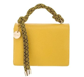 Yellow Rope Handle Handbag